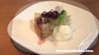 Sicilian Tort Cake With Cherry Sauce & Whipped Cream