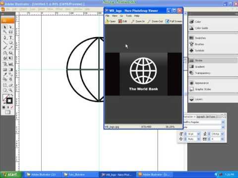 Create a logo like World Bank in Illustrator