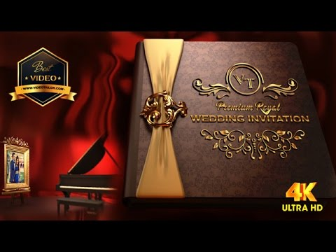 Ultra HD Premium Royal 3D Book Wedding Invitation Video ...