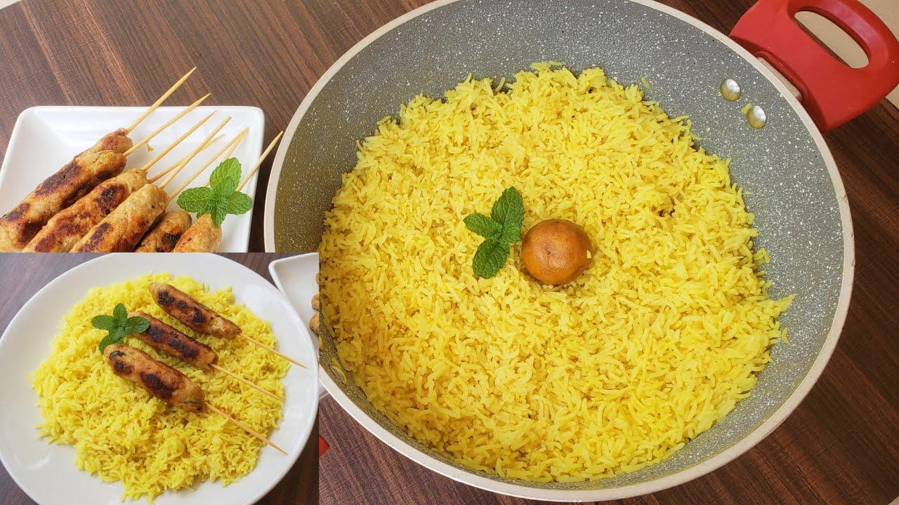 അറബിക്  Yellow Rice    Arabic Plain Rice    Anu's Kitchen