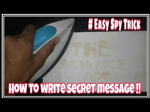 How to write secret message on paper !!   Easy DIY spy trick