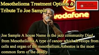 Mesothelioma Treatment Options -Treatment For Mesothelioma That Many Never Had: A Joe Sample Tribute
