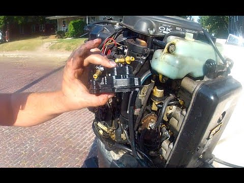 150hp Mercury Blackmax trouble shooting - YouTube