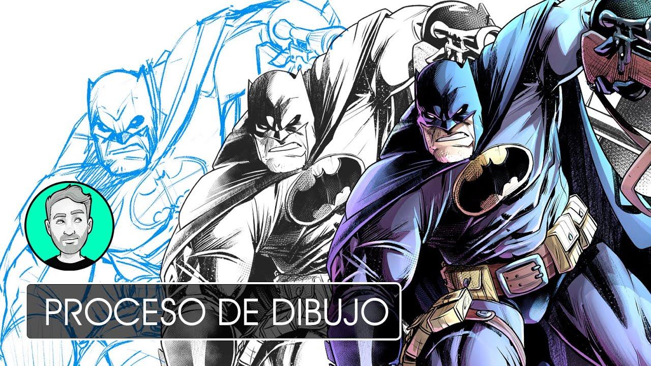 Batman en lápiz, tinta y color | Personajes de DC