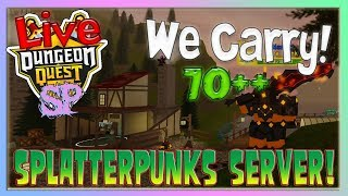 🔴 Dungeon Quest - We Carry! 70++ // SP Server // (Roblox) (2019) {RoadTo1500}