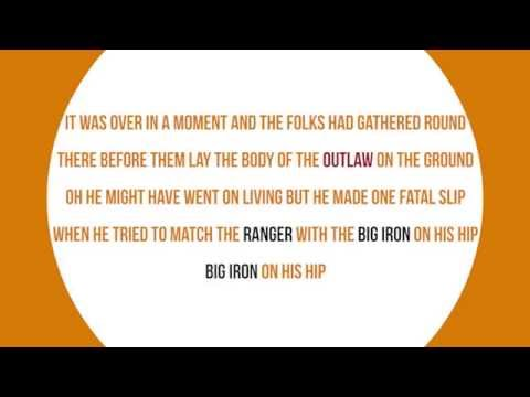 Marty Robbins - Big Iron  (Neat Lyrics)