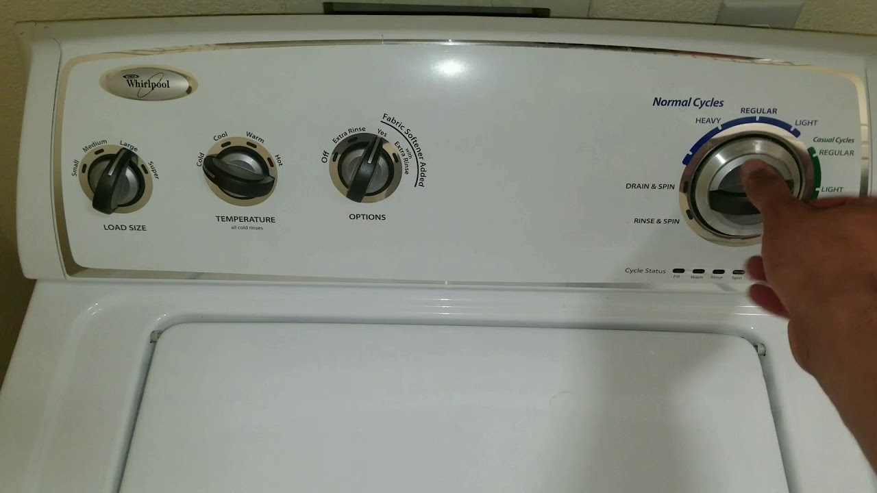 Whirlpool Washer Test/Diagnostic Mode