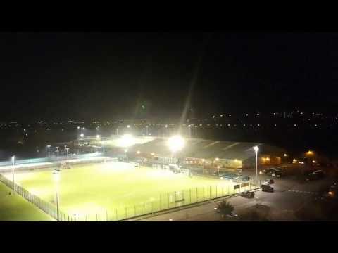First DJI Spark Drone flight at night. Plock Court, Gloucester
