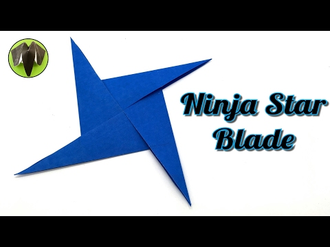Ninja Star Blade Shuriken - DIY Tutorial by Paper Folds