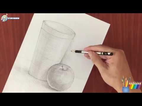 Vẽ theo mẫu: cái cốc và quả