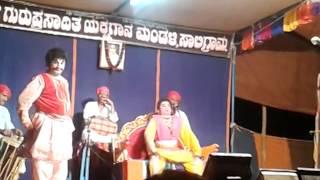Yakshagana Saligrama Mela .....R Maiyya  in neela megha shyama