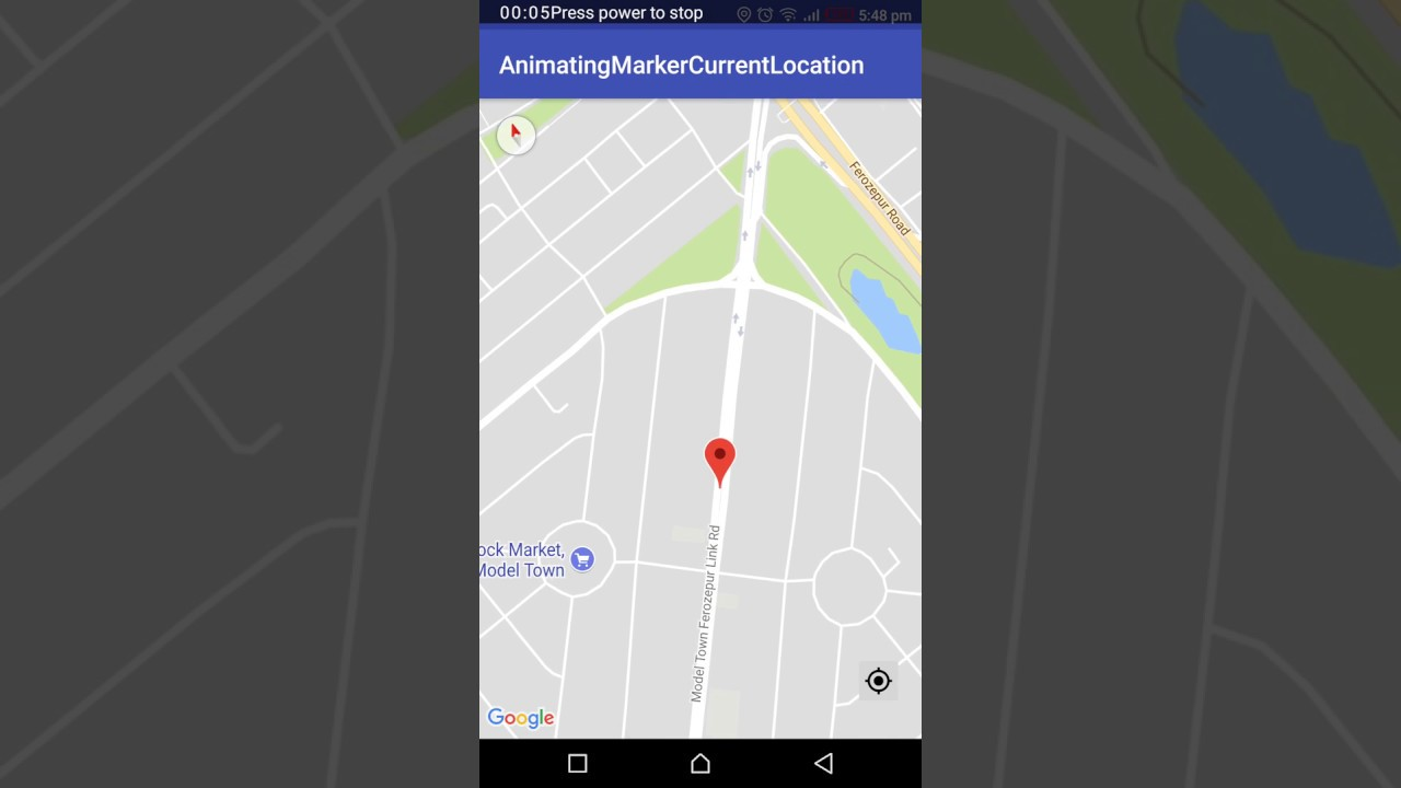 Android Example : Animate marker on Google map with current location