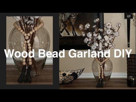 Easy Wood Bead Garland DIY | Home Decor