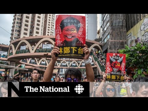 Hong Kong demonstrators hit the street to protest extradition law