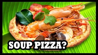 Video ピザ! ピザ! SOUP FLAVORED PIZZA!? - Food Feeder download MP3, 3GP, MP4, WEBM, AVI, FLV Agustus 2018