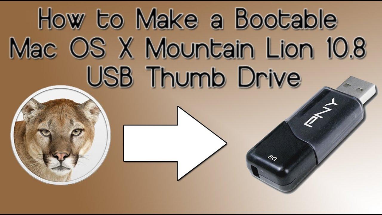 mac os x lion 10.8_How to Make a Bootable Mac OS X Mountain Lion 10.8 USB Thumb Drive - YouTube