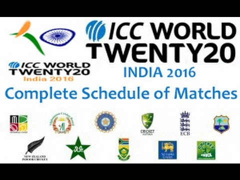 ICC T20 World Cup 2016 Schedule | Time Table | Fixtures | Teams | Live Streaming & Scores