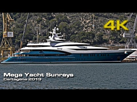 MegaYacht Sunrays Oceanco [4K 50p] (Ravi Ruia) 2019