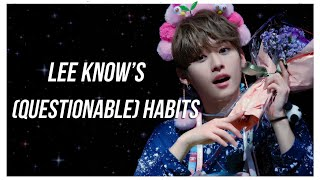 lee know's (questionable) habits