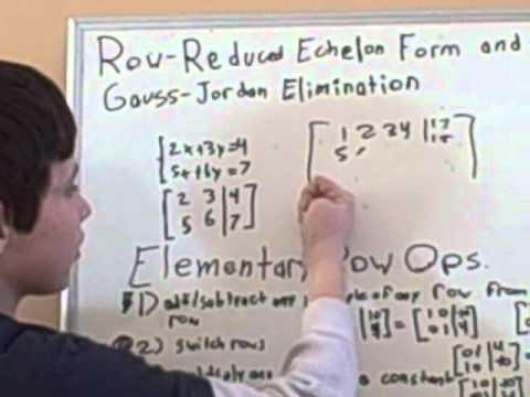 Jacob Barnett lectures on linear algebra.