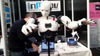 InMoov 3D Printed Open Source Robot @3D Printshow London