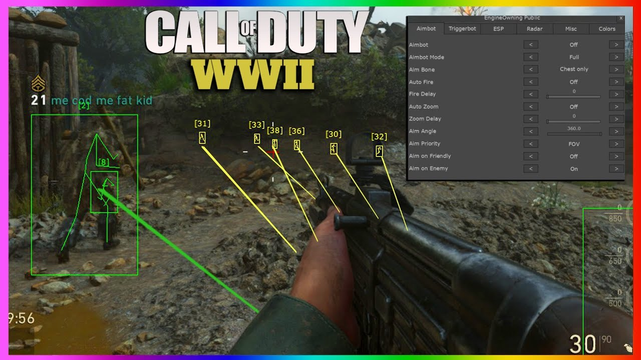 aimbots on xbox one cod wwii