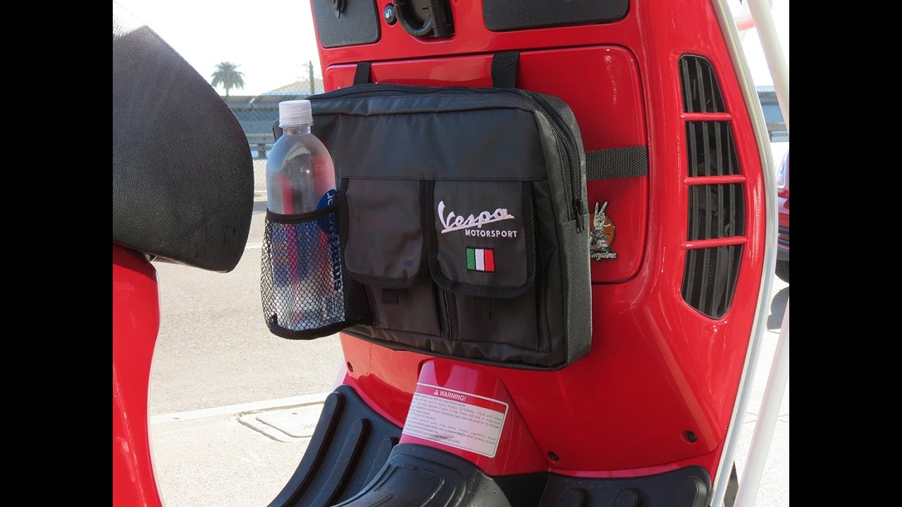 Vespa Glovebox Bag for Scooter Touring - YouTube