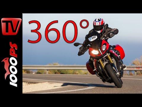 360 Grad Motorrad Video - BMW S 1000 XR  - Küstenstrasse - BMW Motorrad Test-Camp Almeria 2016