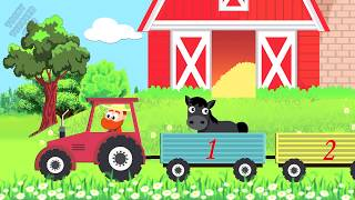 🚂The NumbersTrain🚂Funny Animals Cartoon🚂 Learning for Kids 🚂