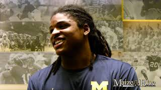Devin Bush Jr. discusses practice incident, looks ahead to Wisconsin