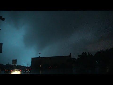 Tornado hits Dallas, TX after dark - 10/20/2019