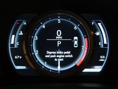 Car Tech 2014 Lexus IS F Sports Gorgeous Gauges YouTube
