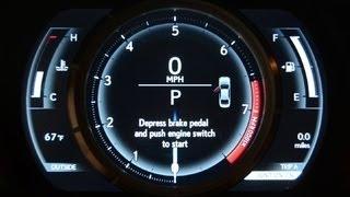 Car Tech - 2014 Lexus IS F-Sport's gorgeous gauges