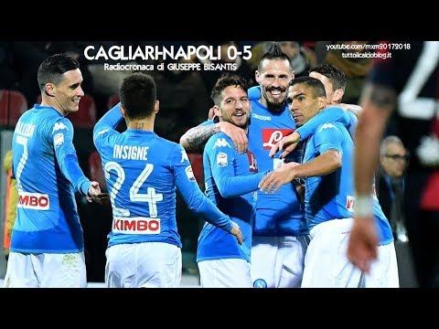 CAGLIARI-NAPOLI 0-5 - Radiocronaca di Giuseppe Bisantis (26/2/2018) da Rai Radio 1