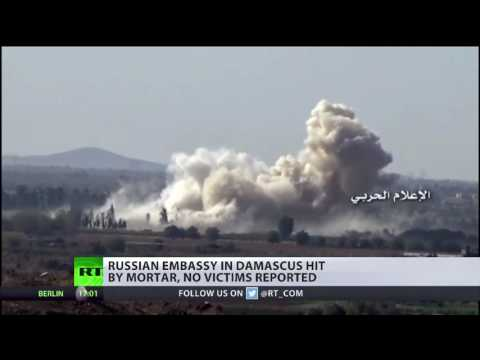 Russian embassy in Damascus hit by mortar from terrorist-controlled area of Syria