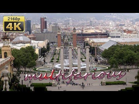 Palau Nacional MNAC and  Olympic Venues, Barcelona, Catalonia - Spain 4K Travel Channel