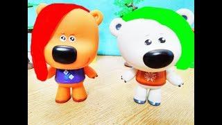 Ми-ми-Мишки устроили игры Лизун слайм играет с Кешей Мультик для детей