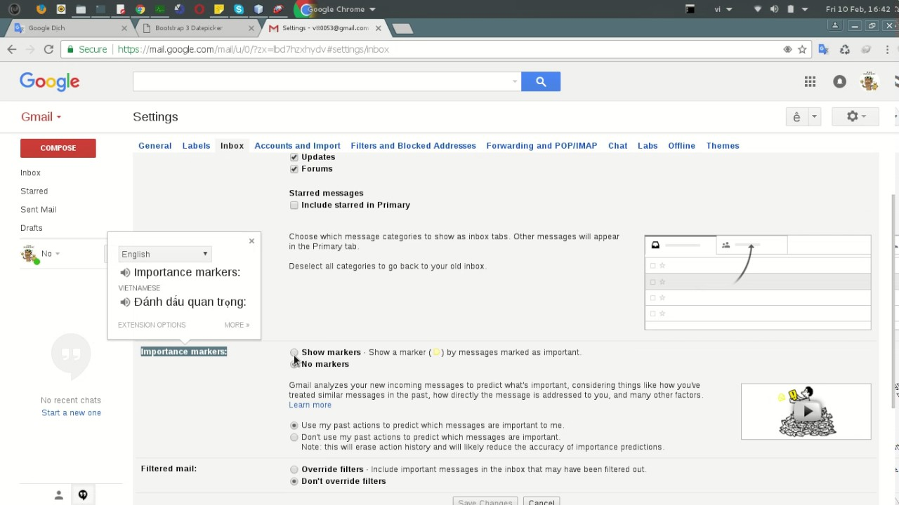 how to add important to gmail