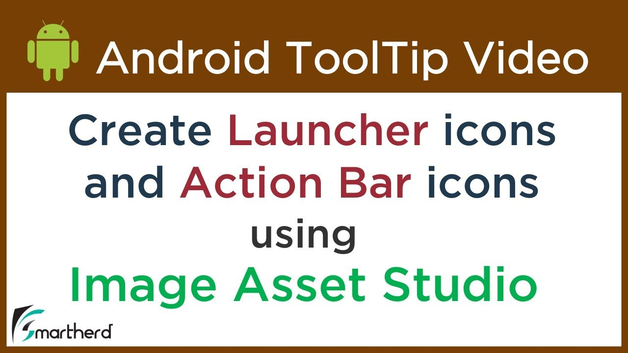 How to Create Android App Icons using Image Asset Studio | Smartherd