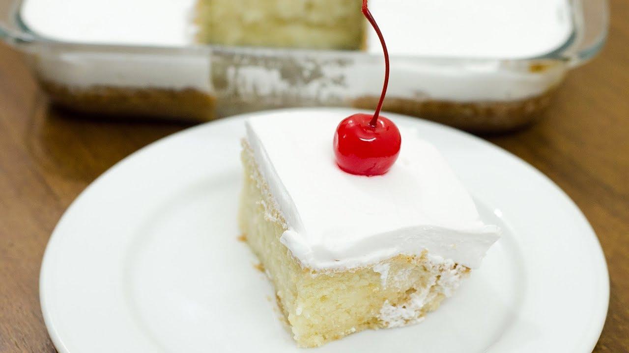 Eggless Three Milk Cake Recipe