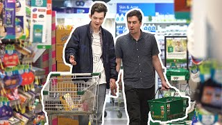Swapping Peoples Shoping Carts at the Supermarket