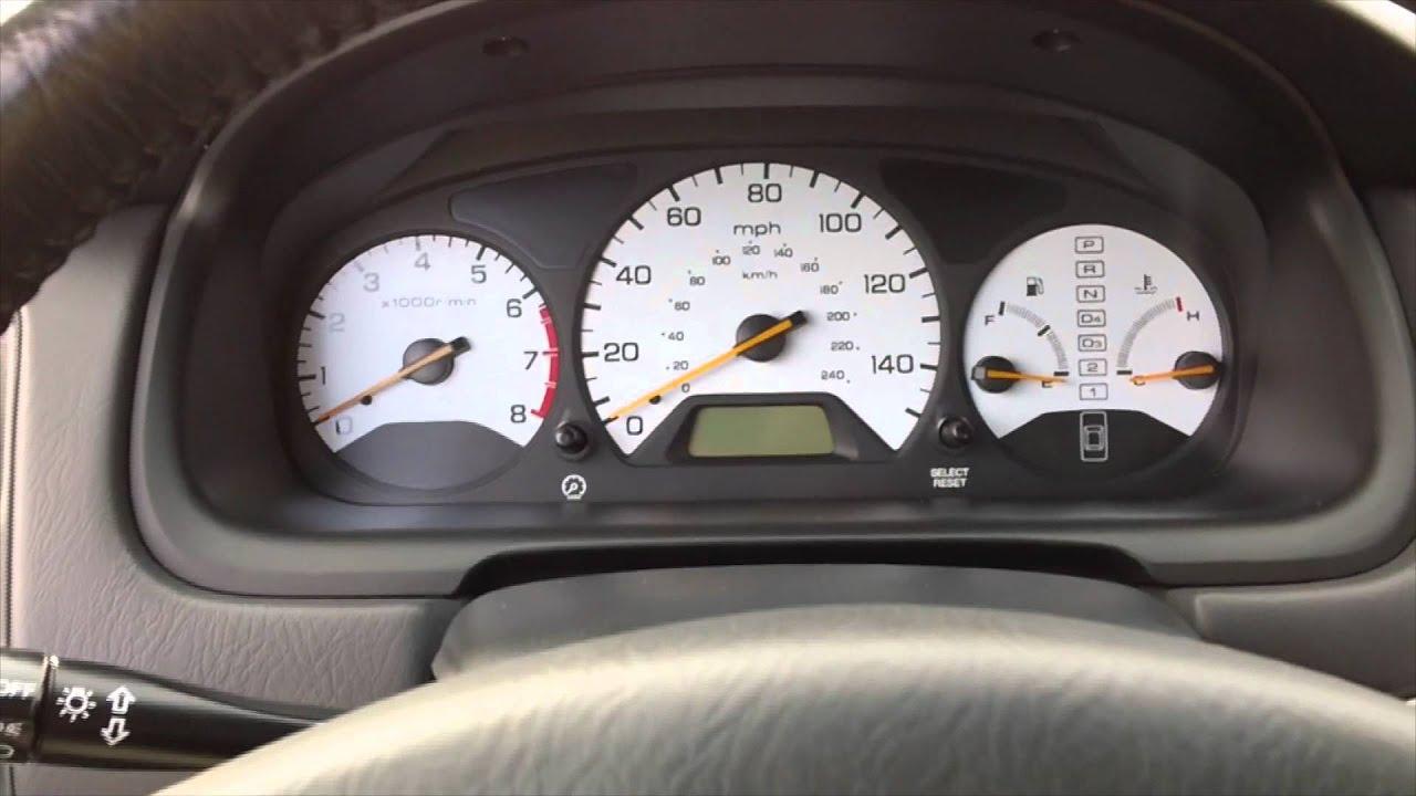 My 2000 Honda Accord Ex V6 White Gauges Review