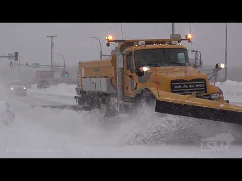 12-9-19 Duluth, MN Big Waves Crashing On Lake Superior Residents Dig Out As Heavy Snows Fall