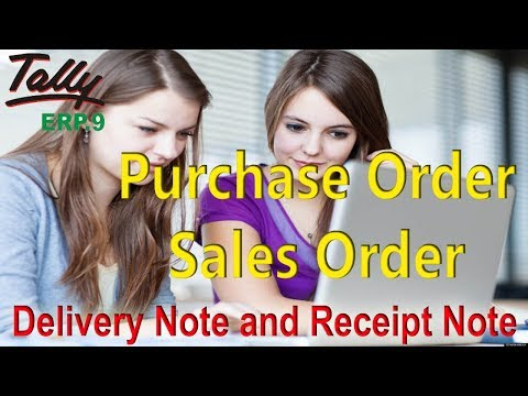 Purchase order and sales order in tally erp 9  explain in hindi