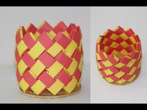 how to make Beautiful paper vase Origami - DIY Useful Project