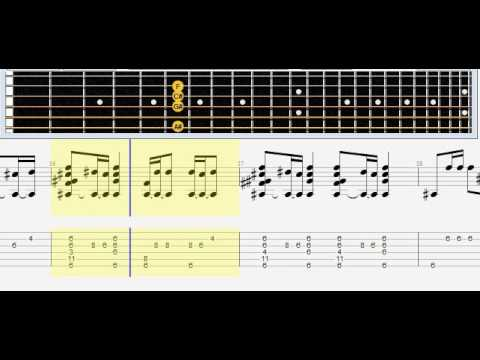 Sia - Chandelier acustic guitar. tabs. note# табулатура, ноты ...