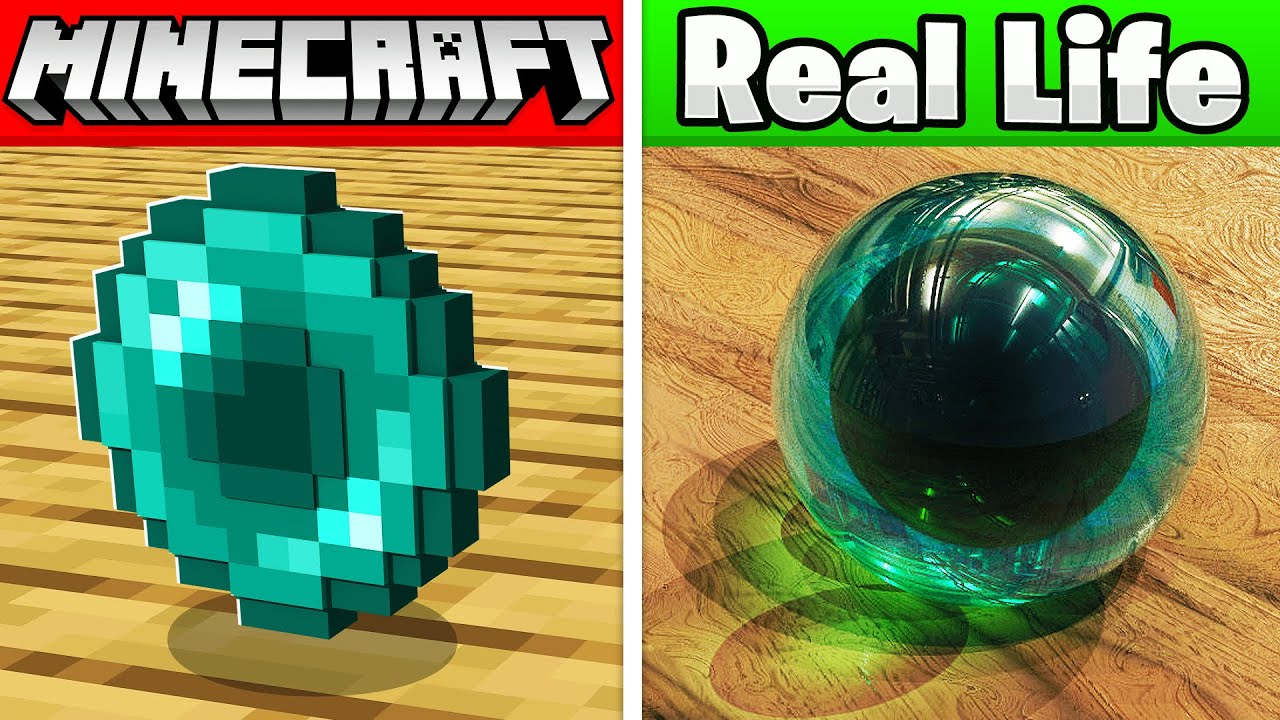 Download MINECRAFT ITEMS in REAL Life! (animals, items, blocks)