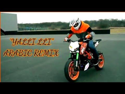 Yalli bass booted arabic remix song | bike stunt complation