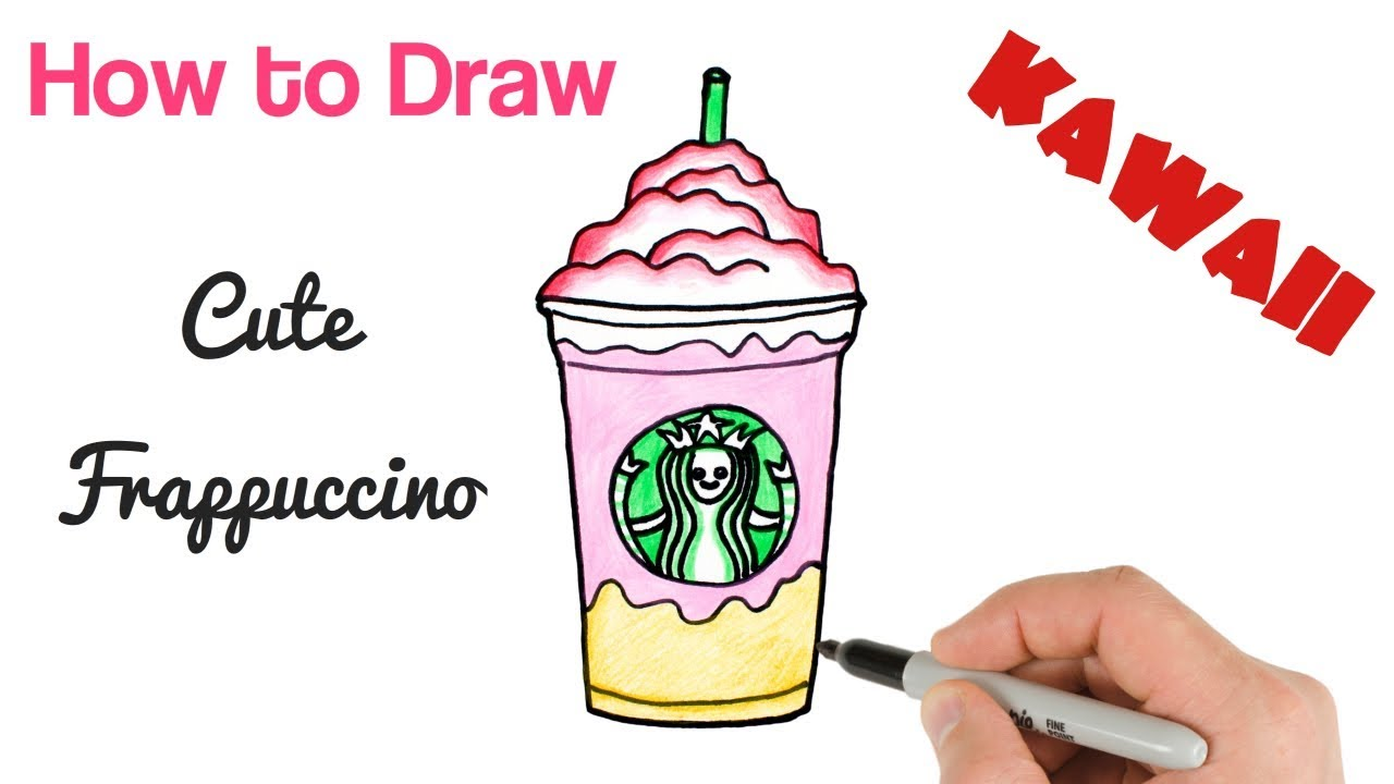 How To Draw Starbucks Drink Easy Step By Step Youtube
