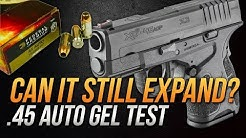 Can it still expand? .45 Auto Federal 230gr HST Short Barrel Gel Test